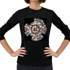 Science Fiction Background Fantasy Women s Long Sleeve Dark T Shirts