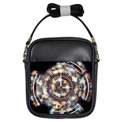 Science Fiction Background Fantasy Girls Sling Bags