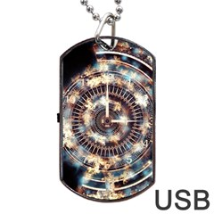 Science Fiction Background Fantasy Dog Tag USB Flash (Two Sides)