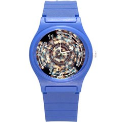 Science Fiction Background Fantasy Round Plastic Sport Watch (S)
