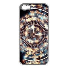Science Fiction Background Fantasy Apple iPhone 5 Case (Silver)
