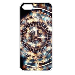 Science Fiction Background Fantasy Apple iPhone 5 Seamless Case (White)