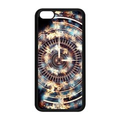 Science Fiction Background Fantasy Apple iPhone 5C Seamless Case (Black)