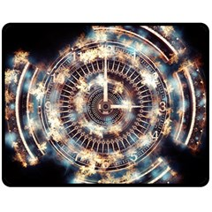 Science Fiction Background Fantasy Double Sided Fleece Blanket (Medium)