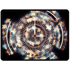 Science Fiction Background Fantasy Double Sided Fleece Blanket (Large)