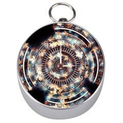 Science Fiction Background Fantasy Silver Compasses