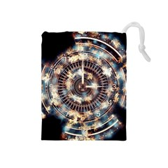 Science Fiction Background Fantasy Drawstring Pouches (Medium)
