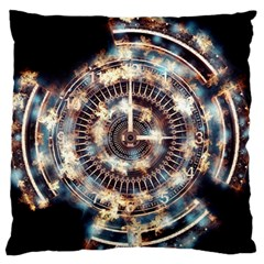 Science Fiction Background Fantasy Large Flano Cushion Case (One Side)
