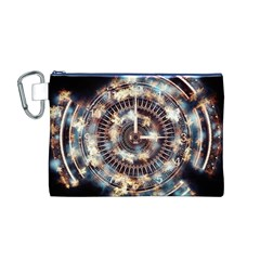 Science Fiction Background Fantasy Canvas Cosmetic Bag (M)