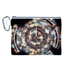 Science Fiction Background Fantasy Canvas Cosmetic Bag (L)