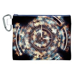 Science Fiction Background Fantasy Canvas Cosmetic Bag (XXL)