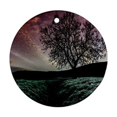 Sky Landscape Nature Clouds Ornament (round)