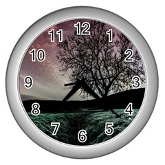 Sky Landscape Nature Clouds Wall Clocks (Silver)