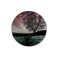 Sky Landscape Nature Clouds Magnet 3  (round)