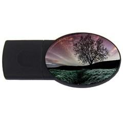 Sky Landscape Nature Clouds USB Flash Drive Oval (2 GB)