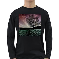 Sky Landscape Nature Clouds Long Sleeve Dark T-Shirts