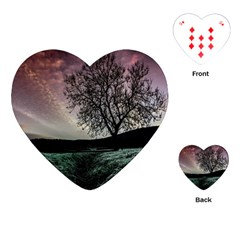 Sky Landscape Nature Clouds Playing Cards (Heart)