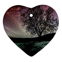 Sky Landscape Nature Clouds Heart Ornament (Two Sides)