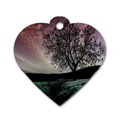 Sky Landscape Nature Clouds Dog Tag Heart (two Sides)