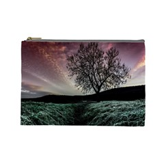 Sky Landscape Nature Clouds Cosmetic Bag (Large)