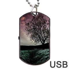 Sky Landscape Nature Clouds Dog Tag USB Flash (Two Sides)