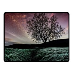 Sky Landscape Nature Clouds Double Sided Fleece Blanket (Small)