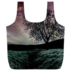 Sky Landscape Nature Clouds Full Print Recycle Bags (L)