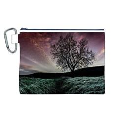 Sky Landscape Nature Clouds Canvas Cosmetic Bag (L)