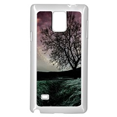 Sky Landscape Nature Clouds Samsung Galaxy Note 4 Case (White)