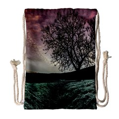 Sky Landscape Nature Clouds Drawstring Bag (Large)