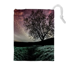 Sky Landscape Nature Clouds Drawstring Pouches (extra Large)