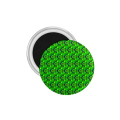 Green Abstract Art Circles Swirls Stars 1 75  Magnets
