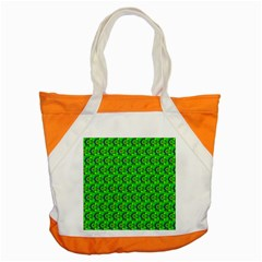 Green Abstract Art Circles Swirls Stars Accent Tote Bag
