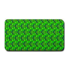 Green Abstract Art Circles Swirls Stars Medium Bar Mats