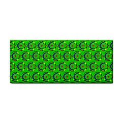 Green Abstract Art Circles Swirls Stars Cosmetic Storage Cases
