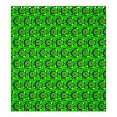 Green Abstract Art Circles Swirls Stars Shower Curtain 66  X 72  (large)