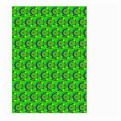 Green Abstract Art Circles Swirls Stars Large Garden Flag (Two Sides)