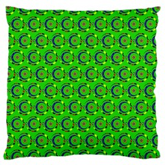 Green Abstract Art Circles Swirls Stars Large Cushion Case (One Side)