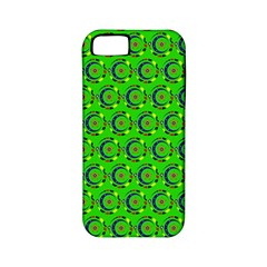 Green Abstract Art Circles Swirls Stars Apple Iphone 5 Classic Hardshell Case (pc+silicone)