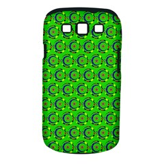 Green Abstract Art Circles Swirls Stars Samsung Galaxy S Iii Classic Hardshell Case (pc+silicone)