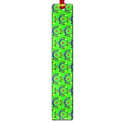 Green Abstract Art Circles Swirls Stars Large Book Marks