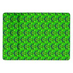 Green Abstract Art Circles Swirls Stars Samsung Galaxy Tab 10.1  P7500 Flip Case