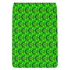 Green Abstract Art Circles Swirls Stars Flap Covers (S)