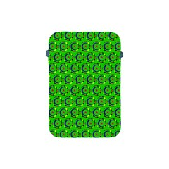 Green Abstract Art Circles Swirls Stars Apple iPad Mini Protective Soft Cases