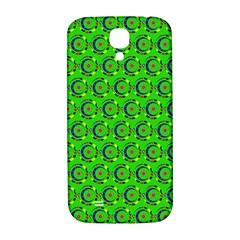 Green Abstract Art Circles Swirls Stars Samsung Galaxy S4 I9500/I9505  Hardshell Back Case