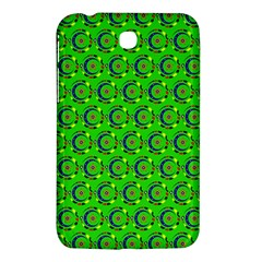 Green Abstract Art Circles Swirls Stars Samsung Galaxy Tab 3 (7 ) P3200 Hardshell Case
