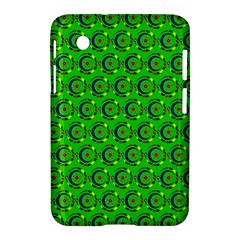 Green Abstract Art Circles Swirls Stars Samsung Galaxy Tab 2 (7 ) P3100 Hardshell Case