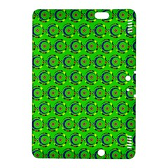 Green Abstract Art Circles Swirls Stars Kindle Fire HDX 8.9  Hardshell Case