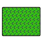 Green Abstract Art Circles Swirls Stars Double Sided Fleece Blanket (Small)  45 x34 Blanket Front