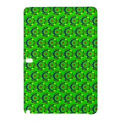 Green Abstract Art Circles Swirls Stars Samsung Galaxy Tab Pro 10.1 Hardshell Case